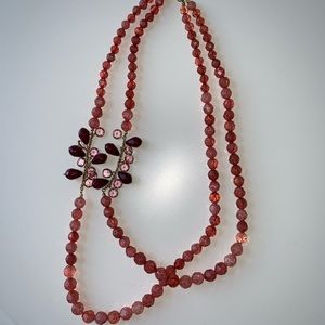 Pink beaded necklace from Anthropologie
